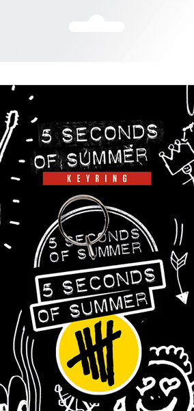 5 Seconds of Summer - Yellow Logo Keyring