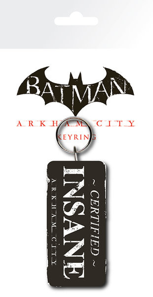 Batman: Arkham City - Certified Insane Keyring
