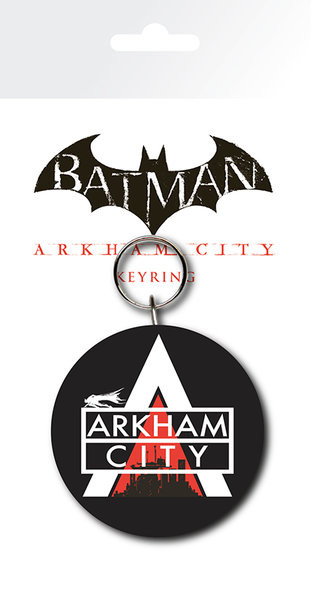 Batman Arkham City - Logo Keyring
