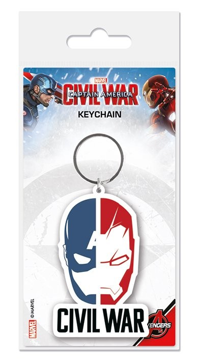 Captain America: Civil War - Face Split Keyring