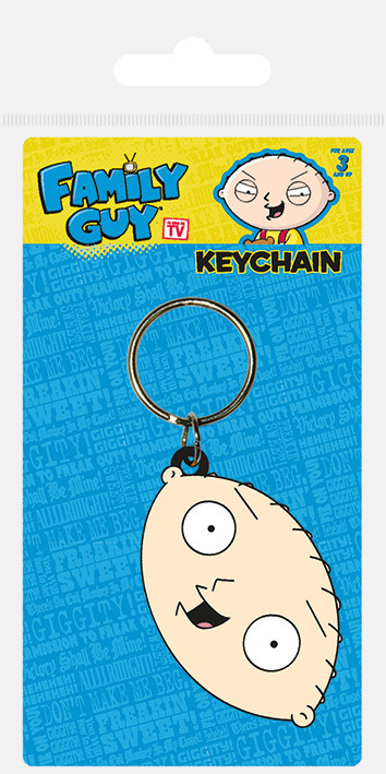 Family Guy - Stewie Face Keyring