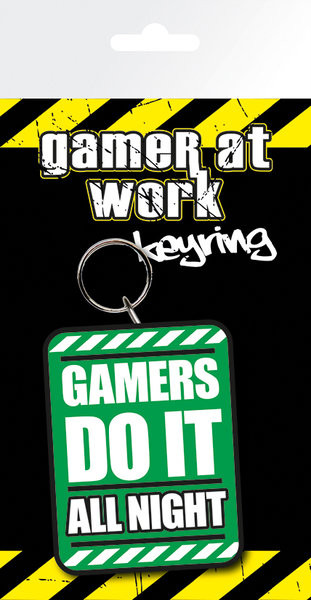 Gaming All Night Keyring