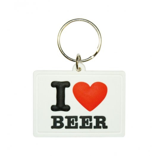 I LOVE BEER Keyring