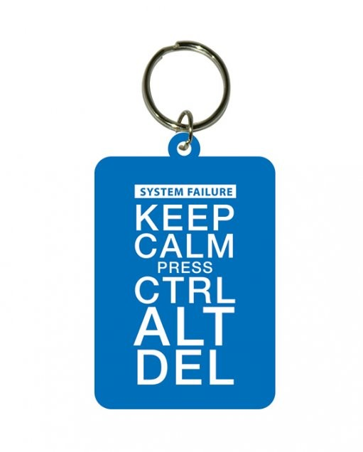 Keep Calm and Press Ctrl Alt Delete Keyring