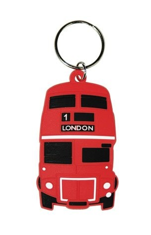 LONDON - red bus Keyring