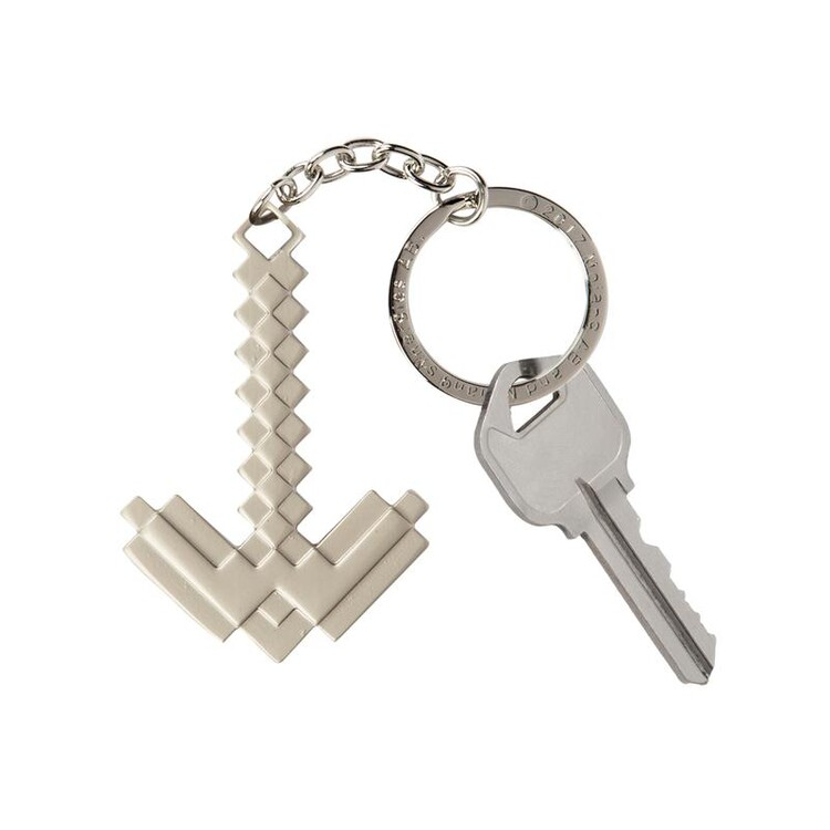 Keychain Minecraft - Metal Pickaxe