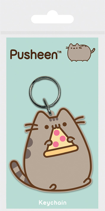 Pusheen - Pizza Keyring