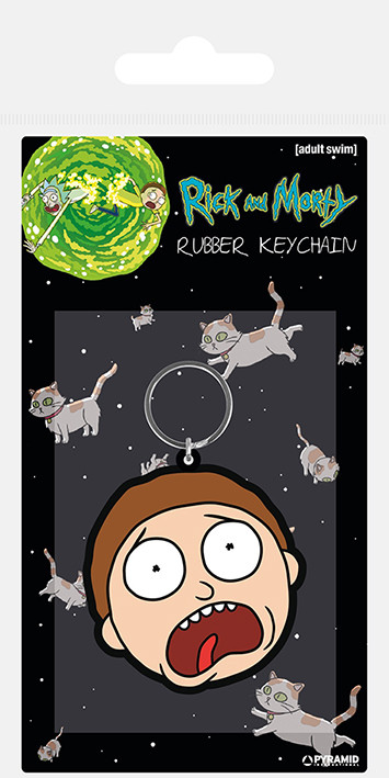 Rick and Morty - Morty Terrified Face Keyring