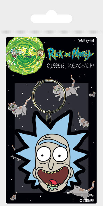 Rick and Morty - Rick Crazy Smile Keyring