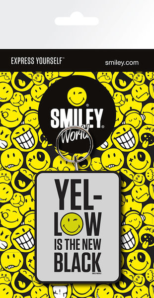 Smiley - Yellow is the New Black Keyring