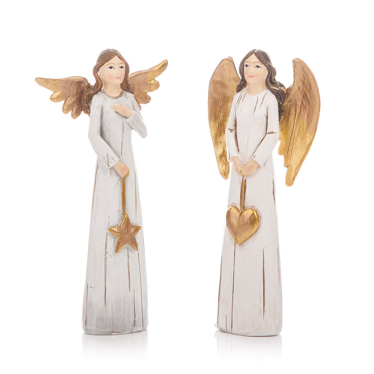 Angel Gold, 11 cm, set of 2 pcs Kodinsisustus
