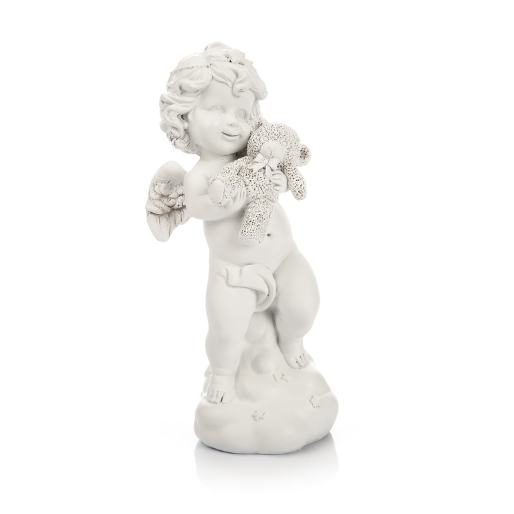 Angel with Teddy Bear, 19 cm Kodinsisustus