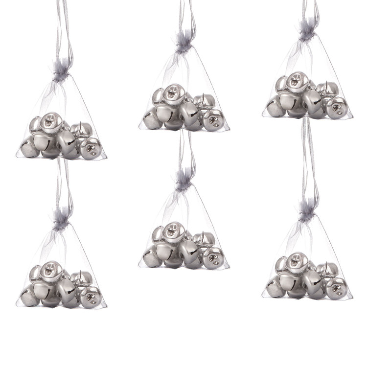 Bells in Bag, 10 pcs, 2,5 cm, set of 6 pcs Kodinsisustus