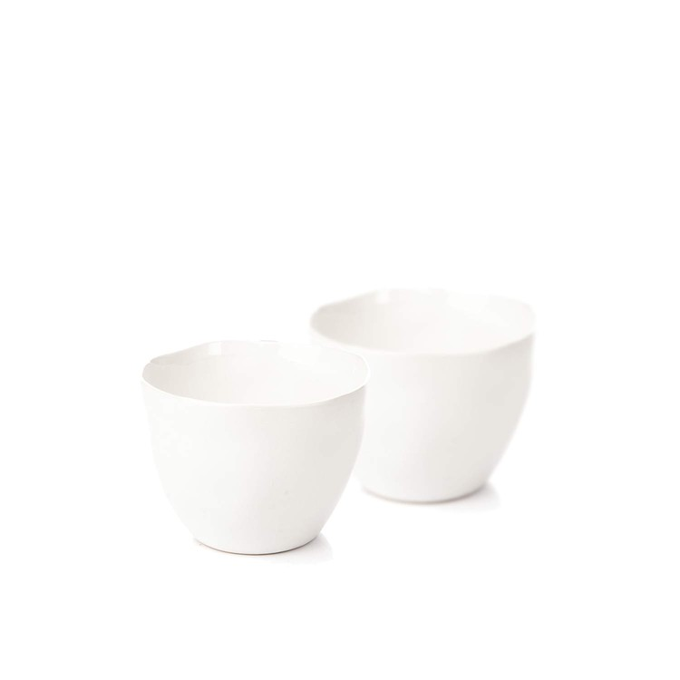 Candle Holder for Tealight Candles, 10 cm White, set of 2 pcs Kodinsisustus