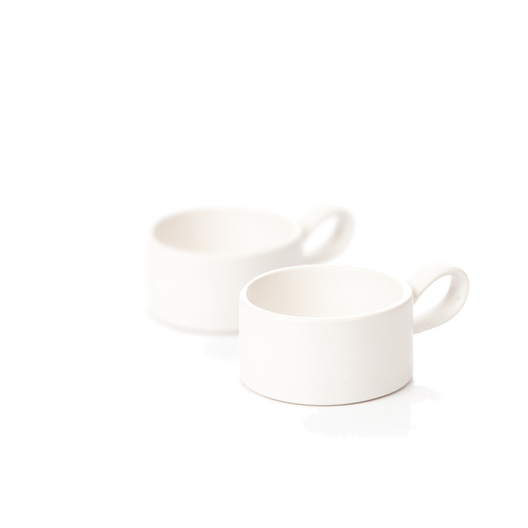 Candle Holder for Tealight Candles, 7,5 cm Matte White, set of 2 pcs Kodinsisustus