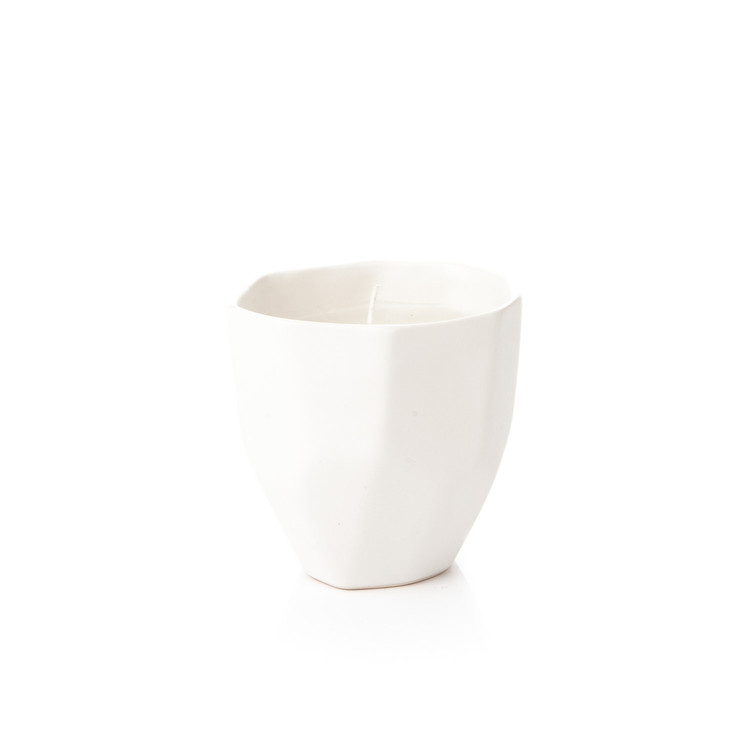 Candle Holder GEO, 9 cm White Matte Kodinsisustus