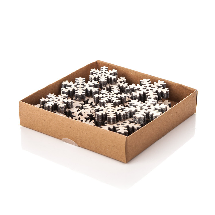 Christmas Box Wooden Snowflakes, Various Sizes Kodinsisustus