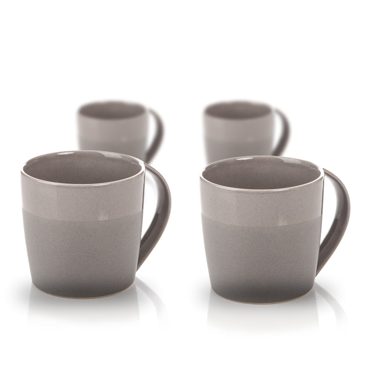 Mug Everyday, Dark Grey Glazed/Matte 300 ml, set of 4 pcs Kodinsisustus