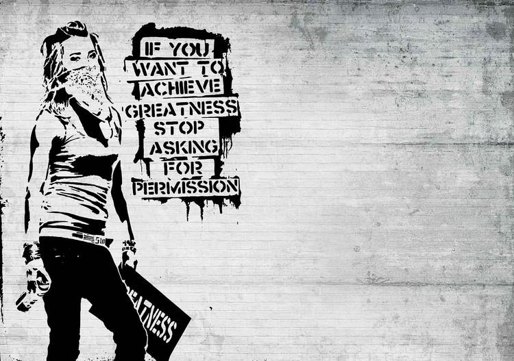 Banksy Graffiti Valokuvatapetti