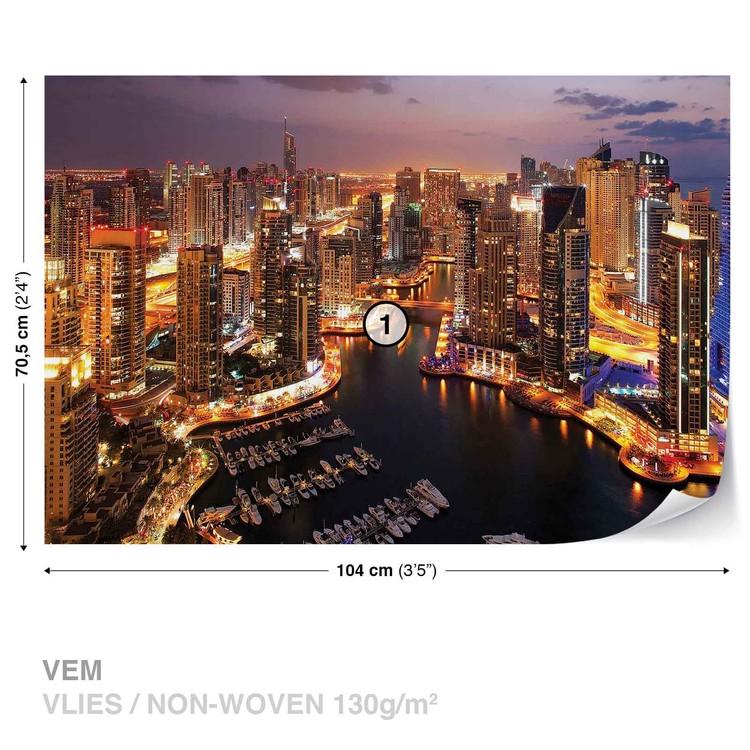 City Dubai Marina Skyline Valokuvatapetti