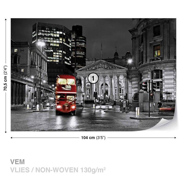 City London Bus Red Valokuvatapetti