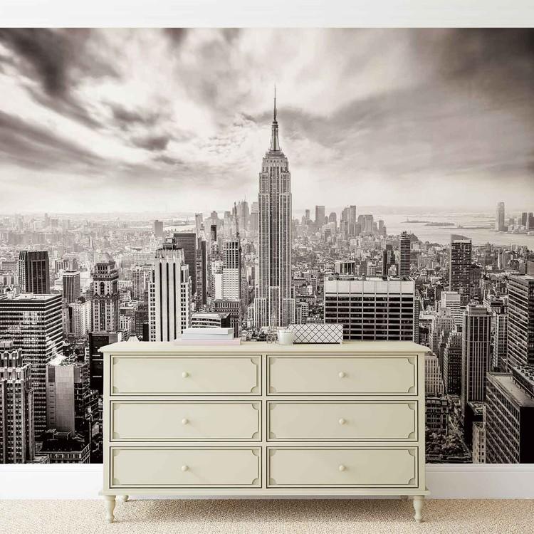City Skyline Empire State New York Valokuvatapetti