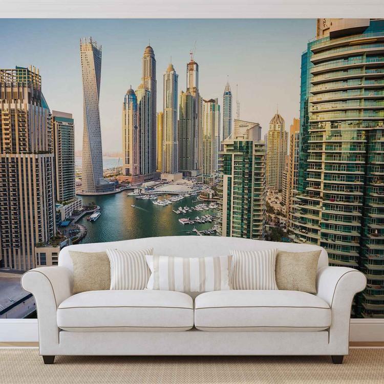 Dubai City Skyline Marina Valokuvatapetti