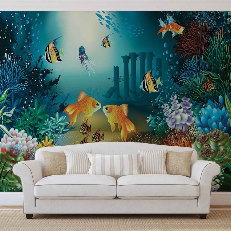 Fishes Corals Sea Valokuvatapetti