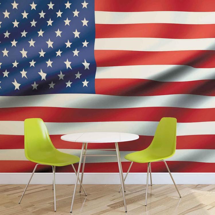 Flag United States USA Valokuvatapetti