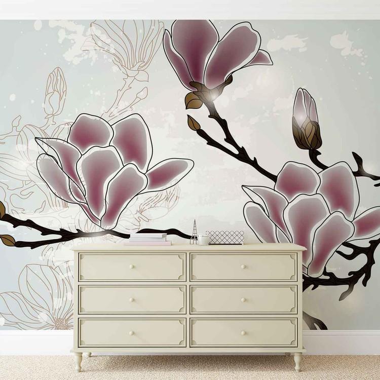 Flowers Magnolia Branch Valokuvatapetti