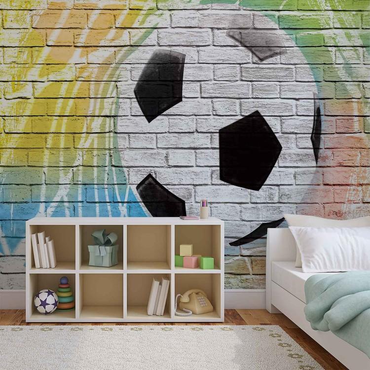Football Wall Bricks Valokuvatapetti