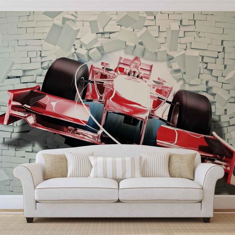 Formula 1 Racing Car Bricks Valokuvatapetti
