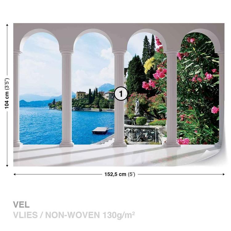 Lake Como Italy Arches Valokuvatapetti