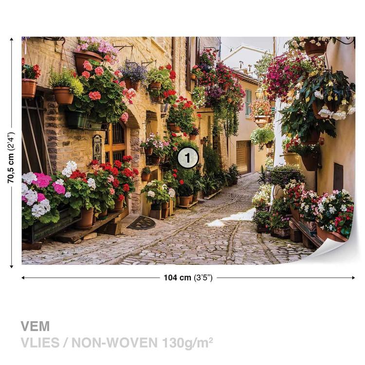 Mediteranean With Flowers Valokuvatapetti