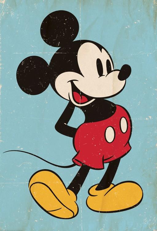Mikki Hiiri (Mickey Mouse) - Retro Kuvatapetti, Tapettijuliste