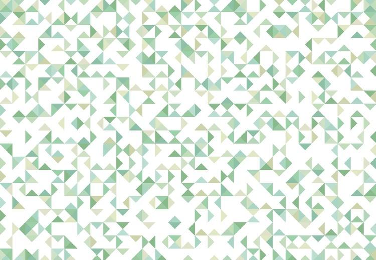 Modern Geometric Pattern Green Valokuvatapetti