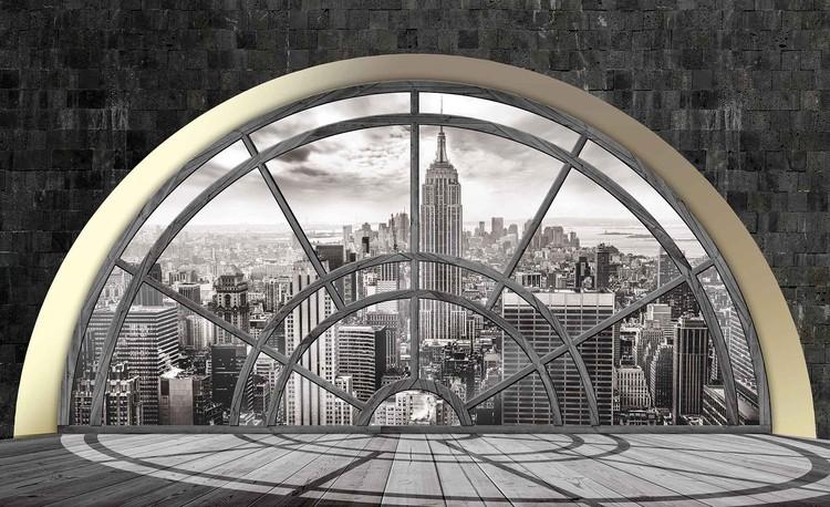 New York City Skyline Window Valokuvatapetti