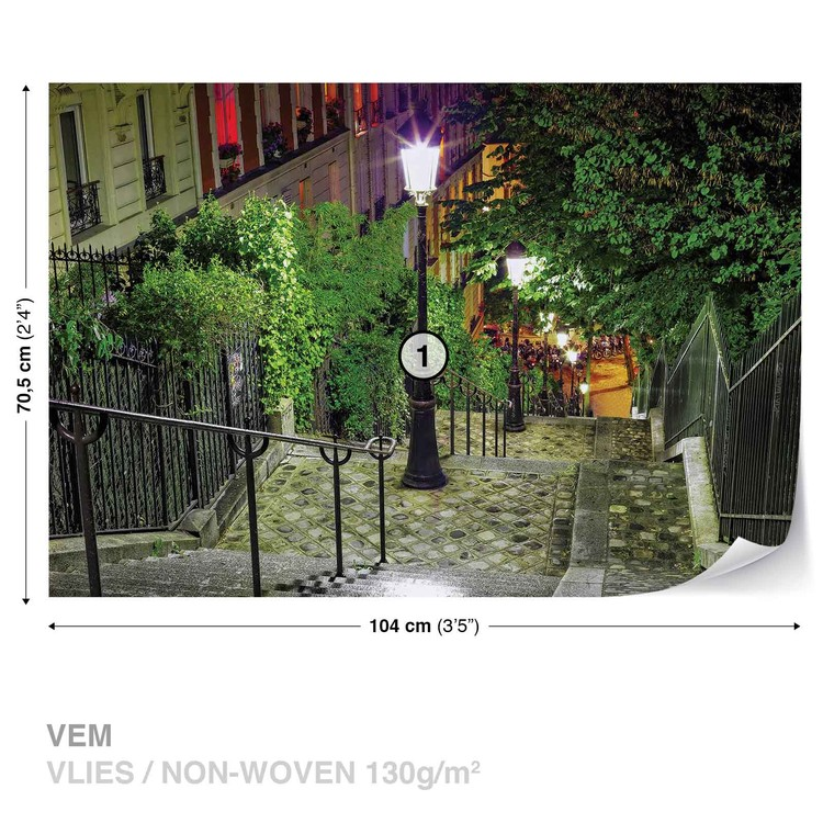 Paris City Street Night Valokuvatapetti