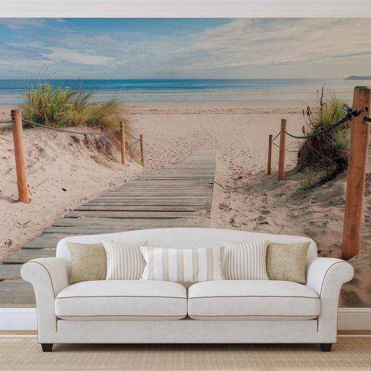 Path Beach Sand Nature Valokuvatapetti