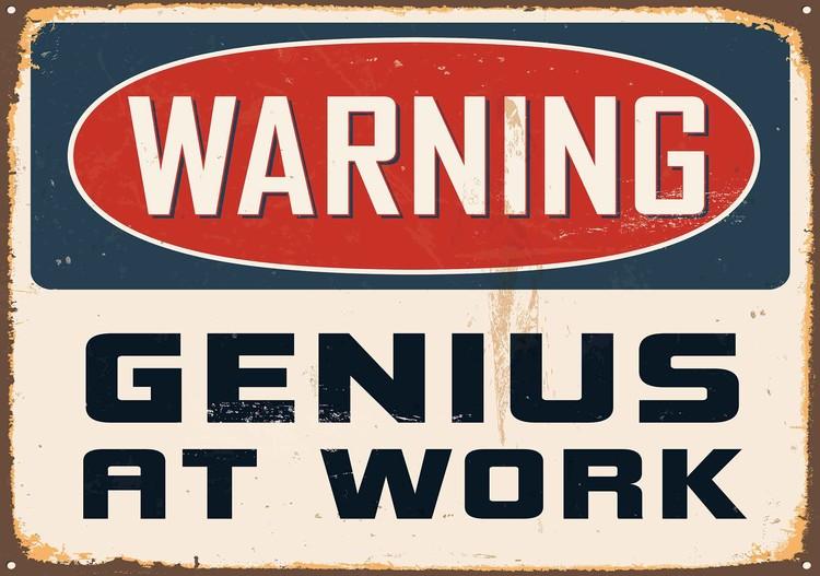 Retro Poster Genius Valokuvatapetti
