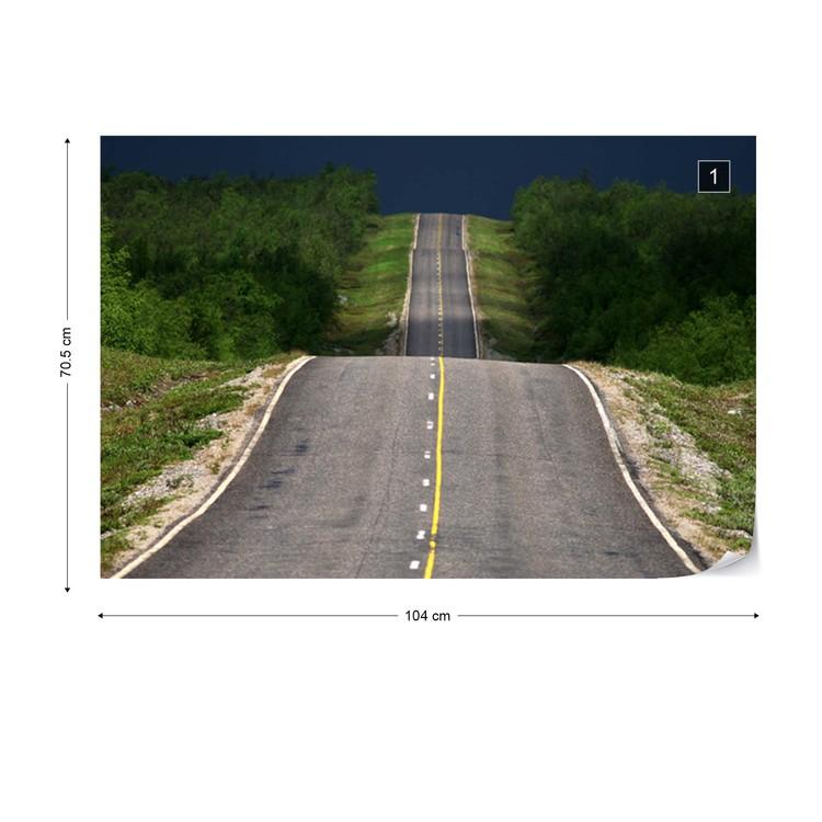 Road Up, Down, Up Valokuvatapetti