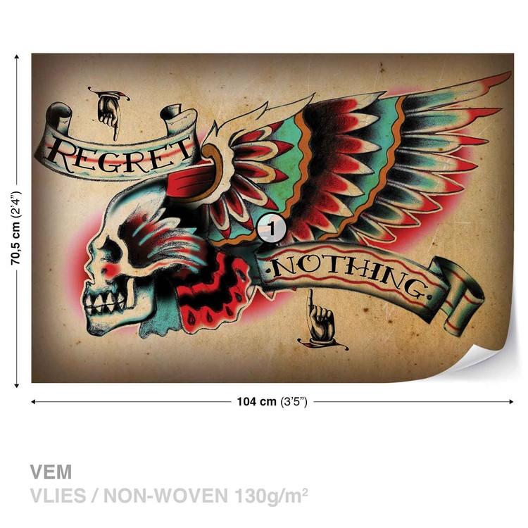 Skull Tattoo Wing Valokuvatapetti