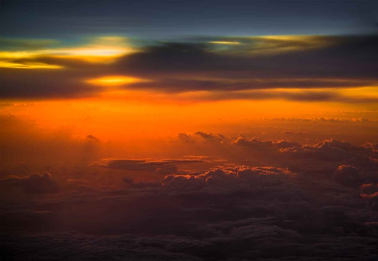 Sunset Over Sky Valokuvatapetti