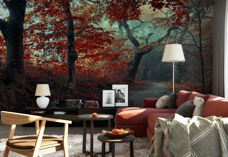 The Red Forest Valokuvatapetti