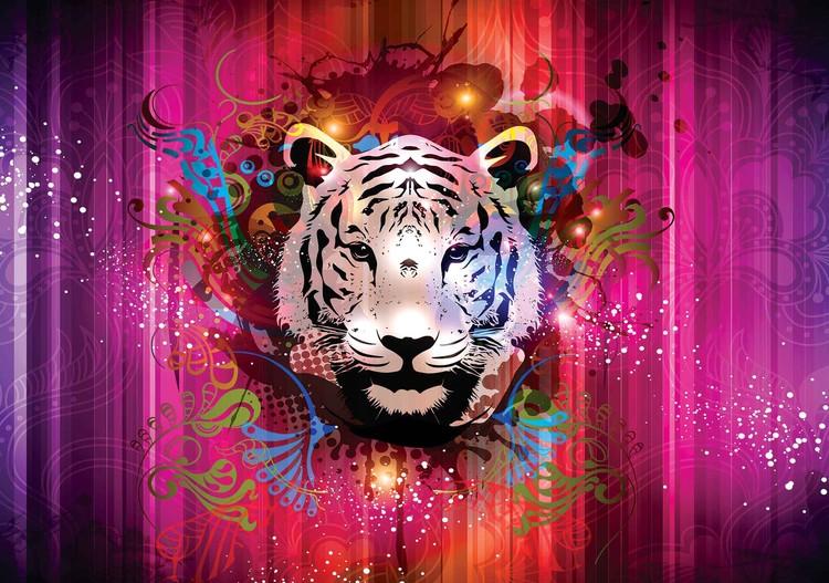 Tiger Abstract Valokuvatapetti