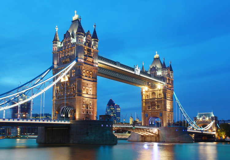 TOWER BRIDGE  Kuvatapetti, Tapettijuliste