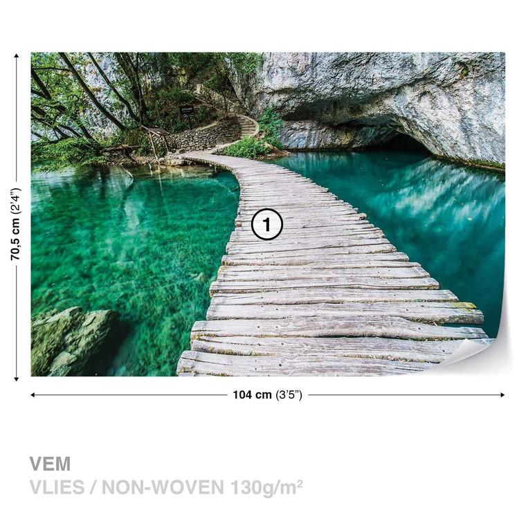 Wooden Bridge in Lagoon Valokuvatapetti
