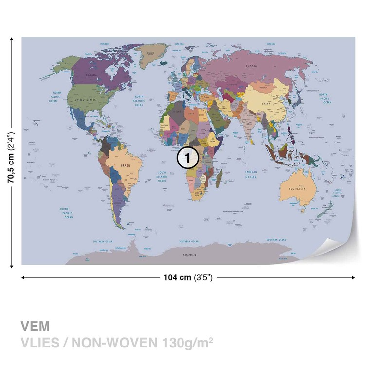 World Map Valokuvatapetti