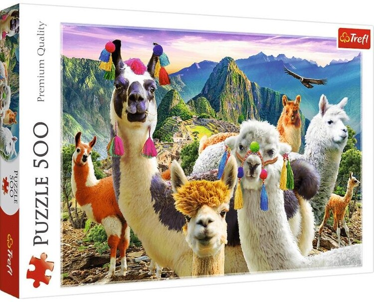 Puzzle Lamas in the Mountains