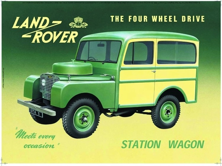 Land Rover station wagon  Plaque métal décorée